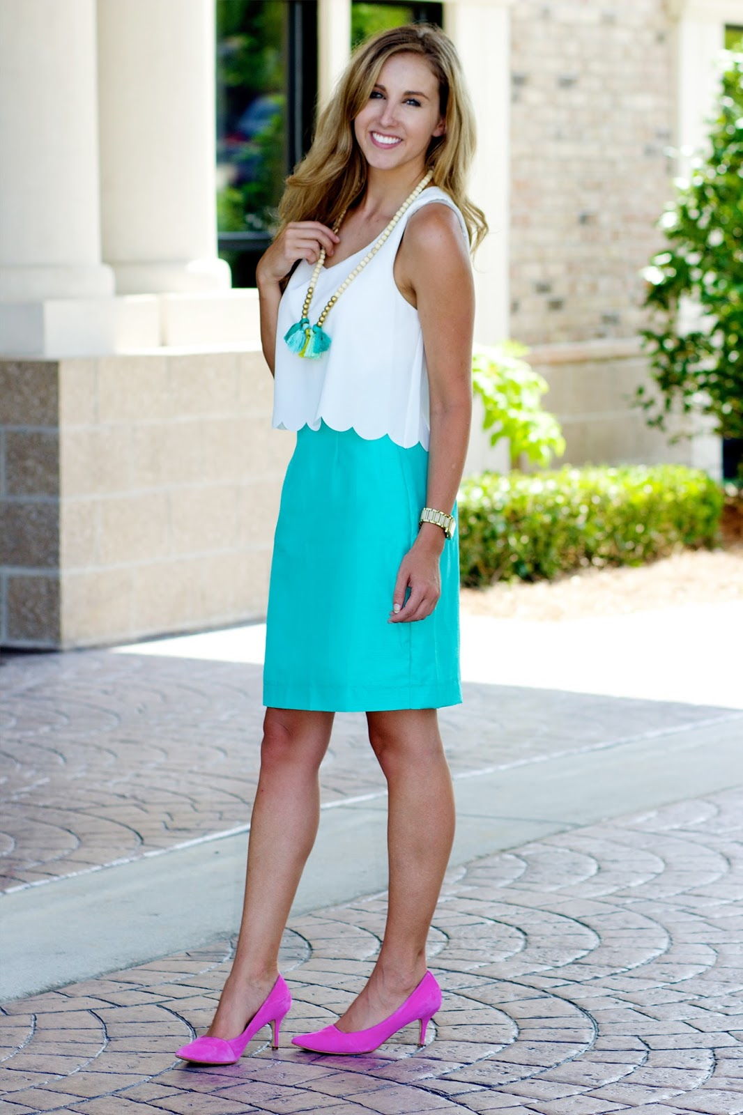 White Scallop Dress Two Ways: Part 1