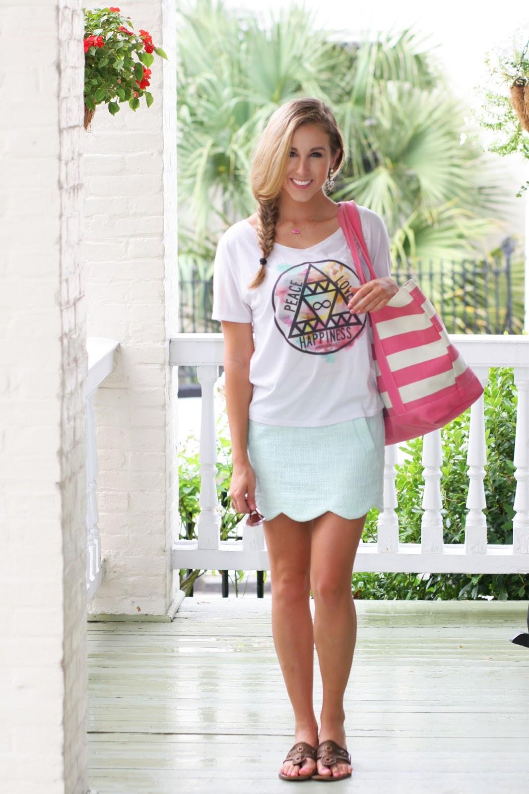 Scallop Skirt & Watercolors