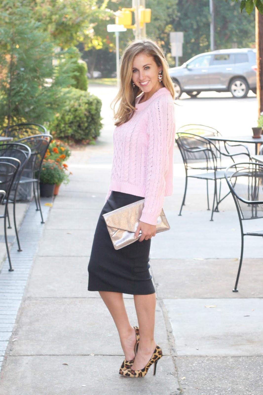 How to Wear a Midi Dress: Preppy Glam