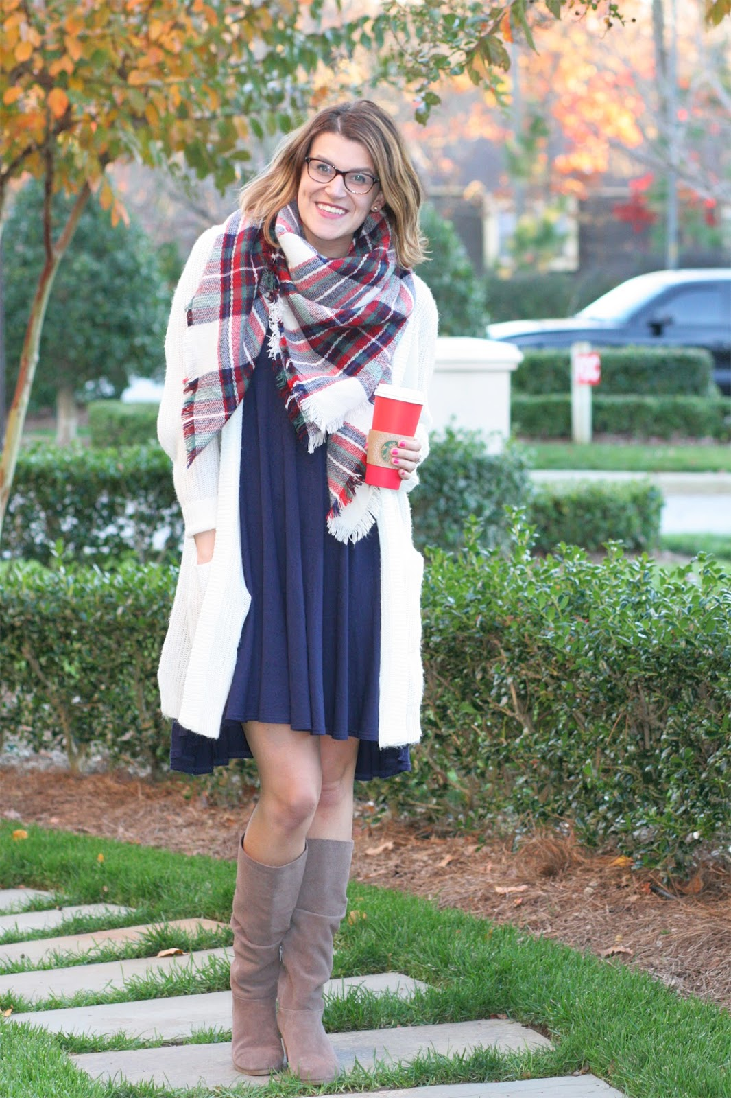 3dcae61c003 Blanket Scarf   Cardigan Layers - Sara Kate Styling