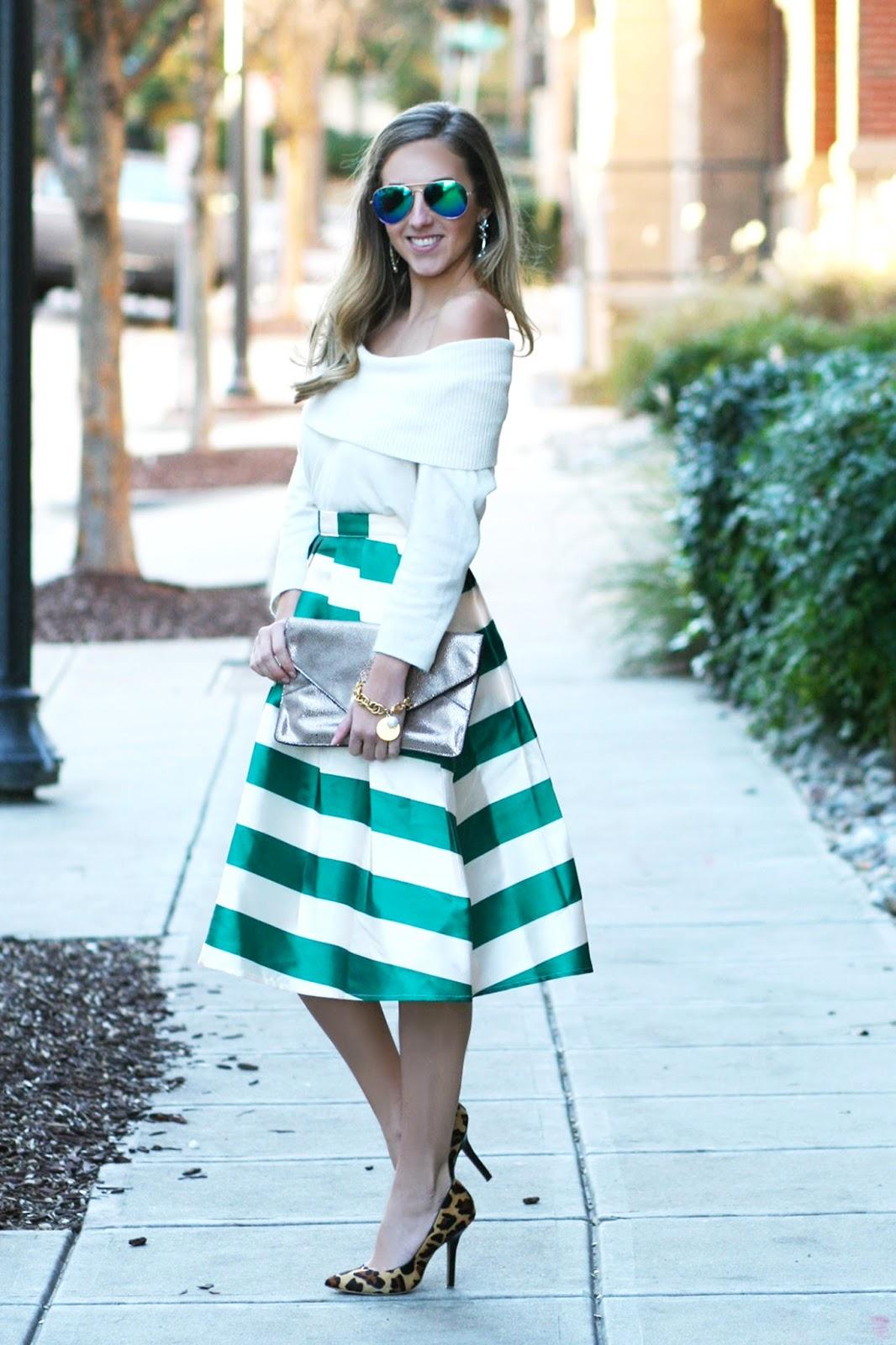Pleated Midi Skirt for Winter