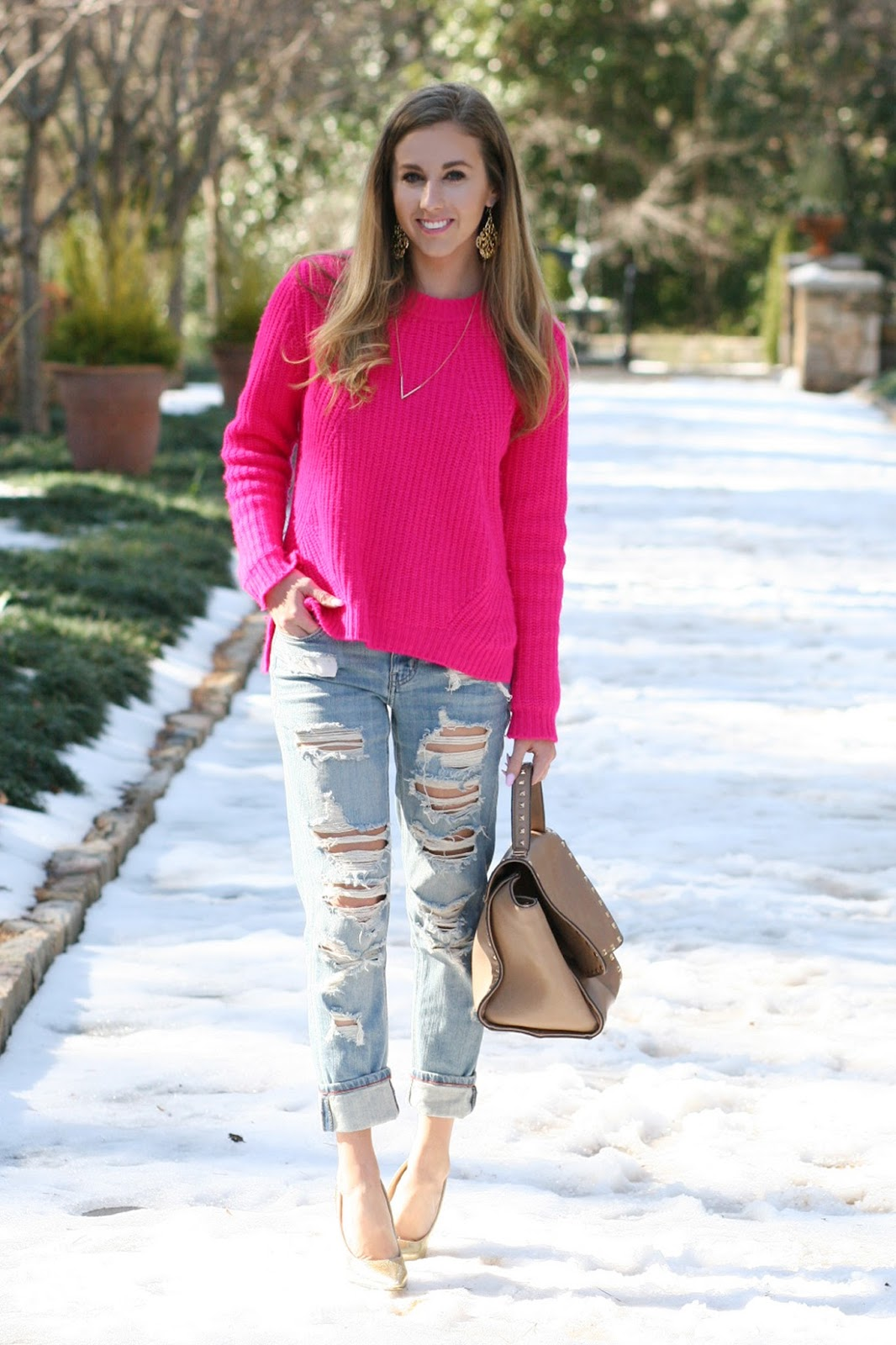 An Oversized Sweater & Boyfriend Jeans - Sara Kate Styling