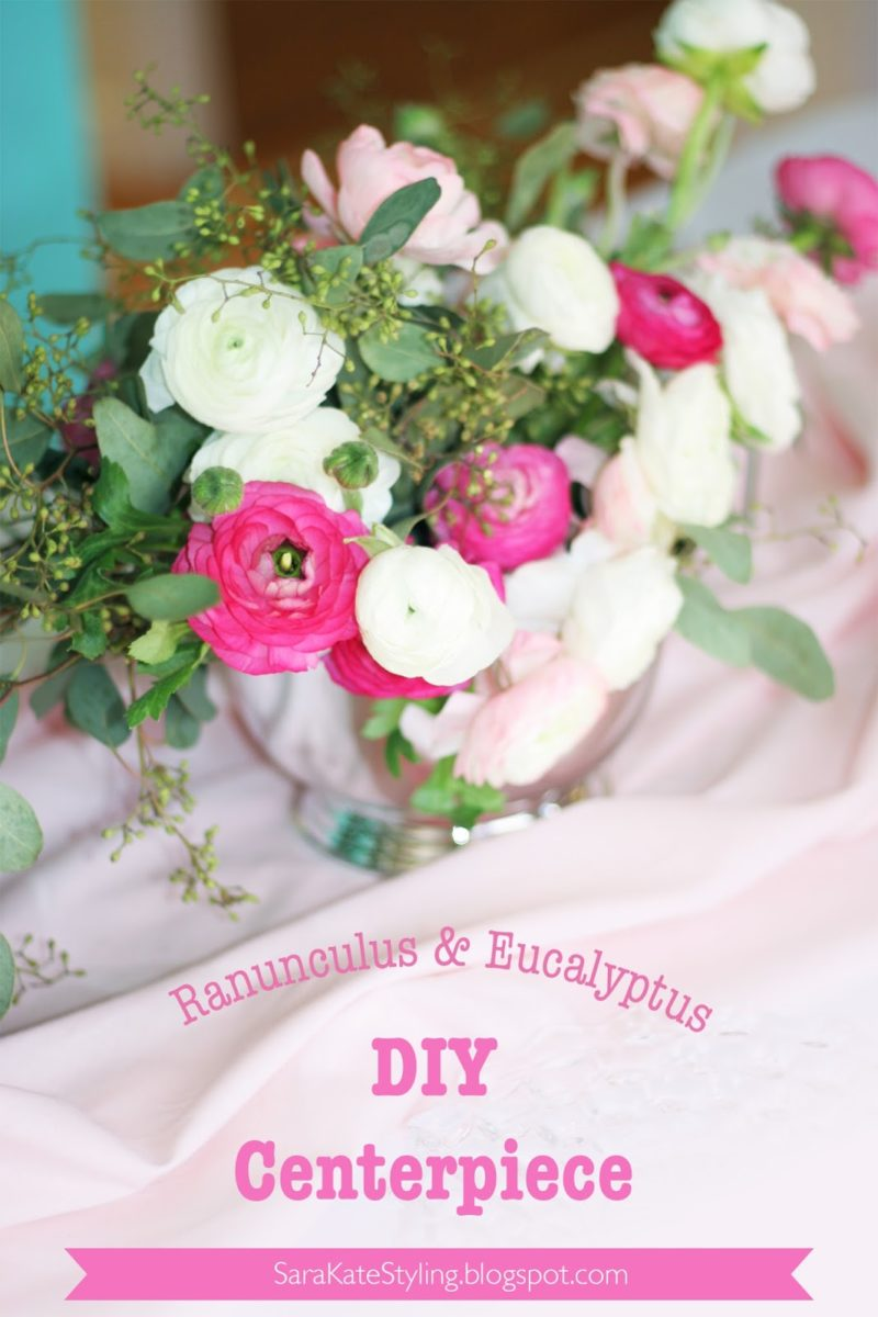 DIY Flower Centerpiece {Galentine's Edition}
