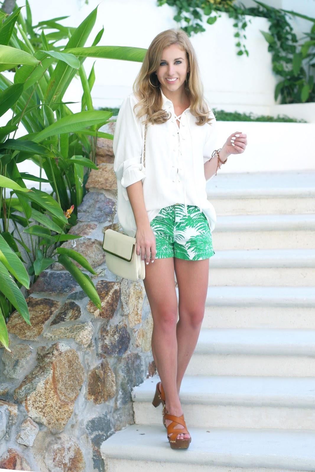 Palm Printed Shorts