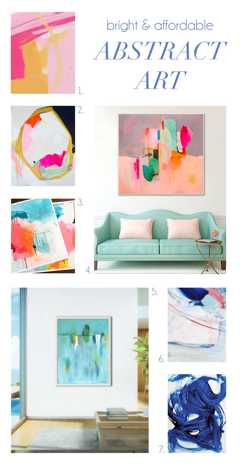 Affordable Wall Art Fair Bright & Affordable Wall Art  Sara Kate Styling Review