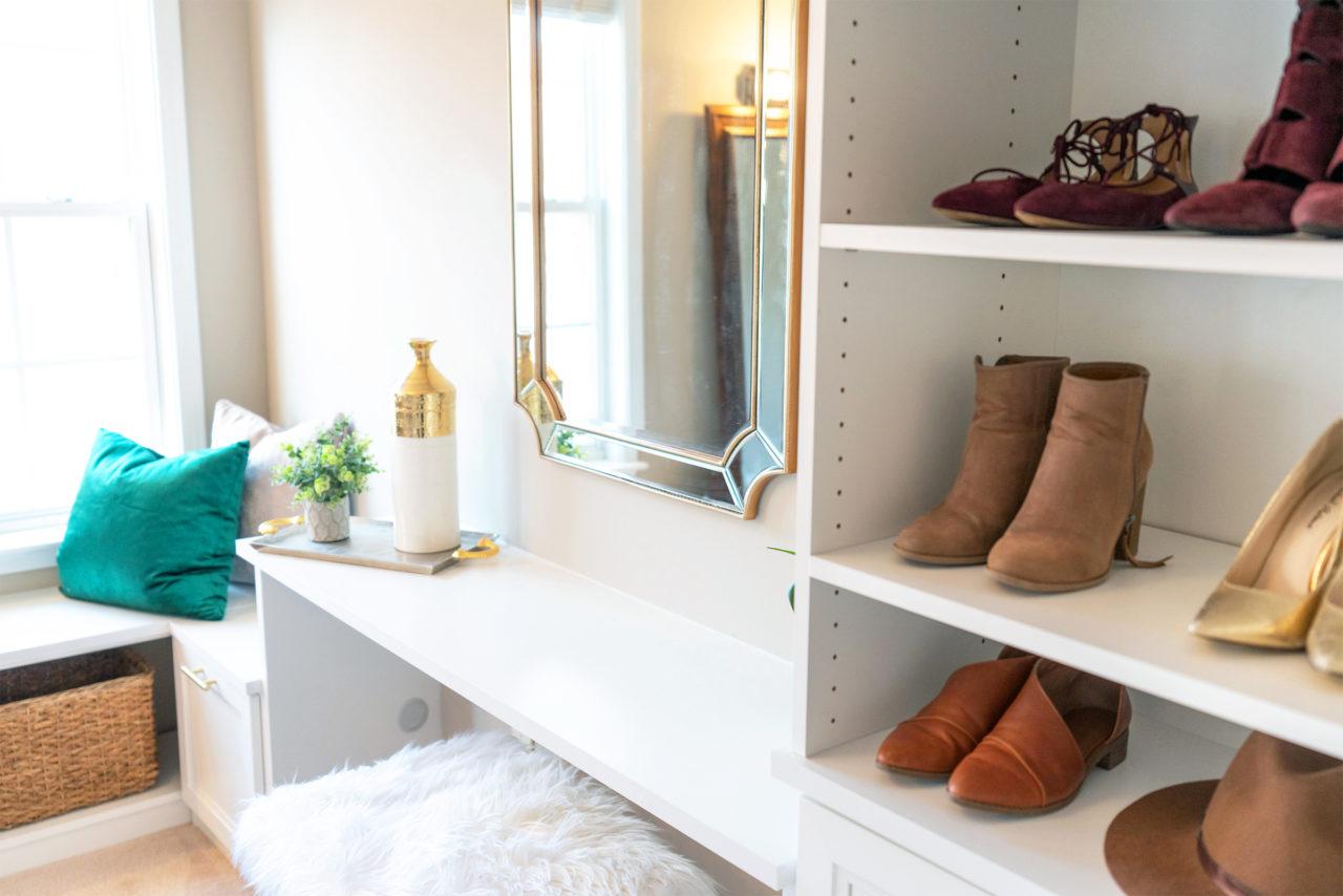 California closets vanity and bench