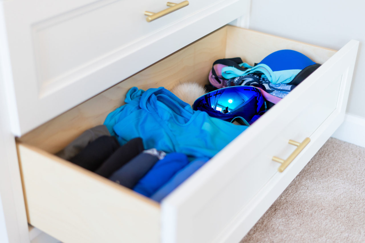 Organized workout gear