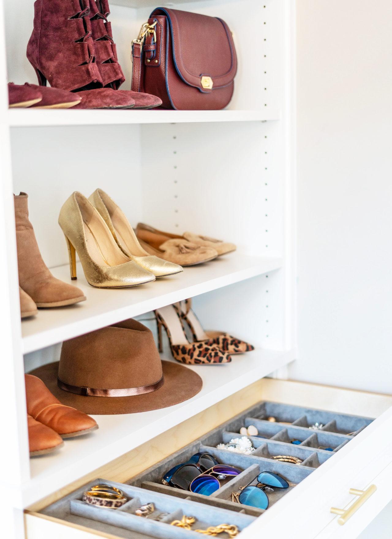 Shoe earring and bag organization