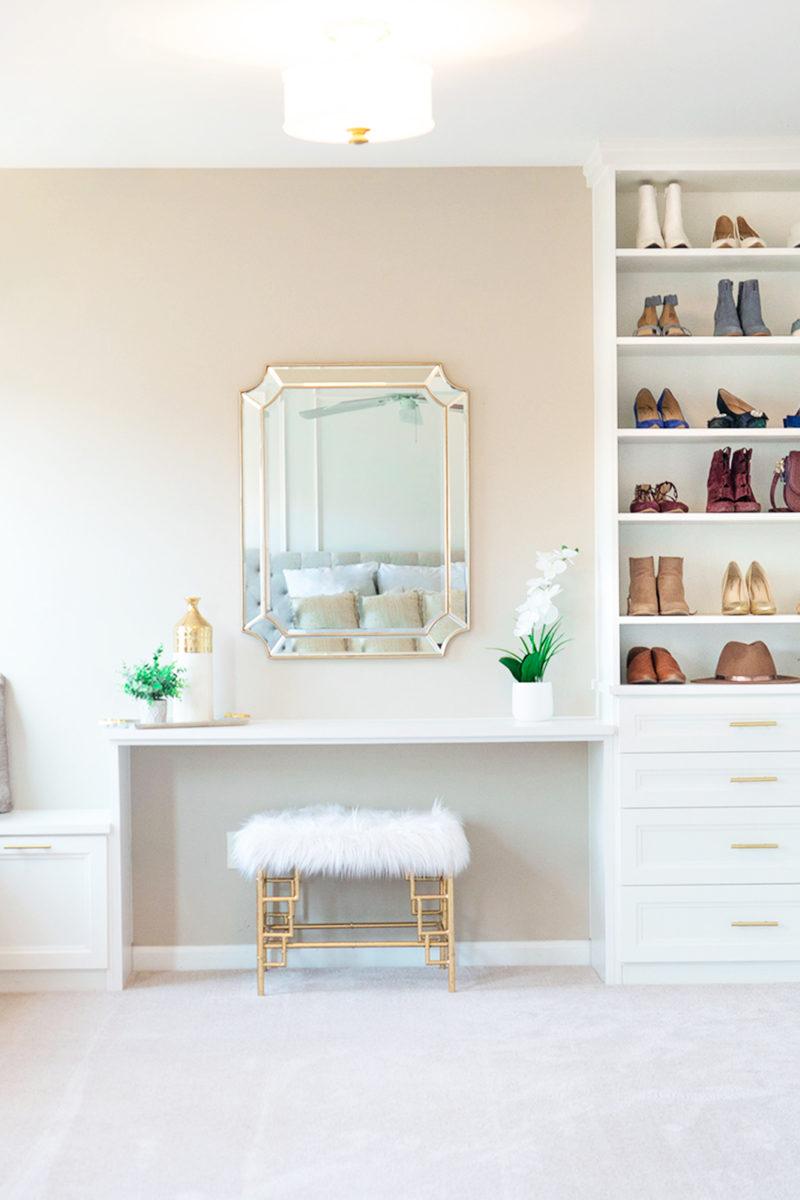 Shoe Closet Reveal with California Closets