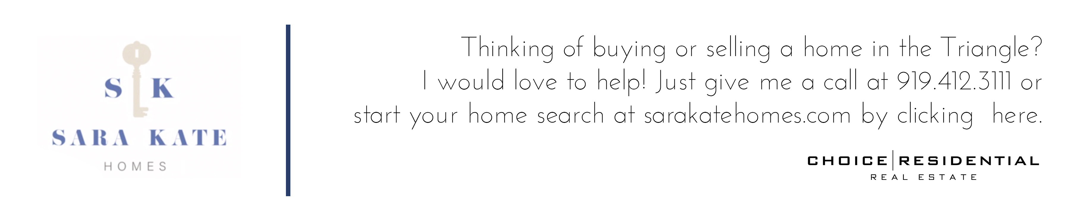 Thinking of buying or selling in the triangle
